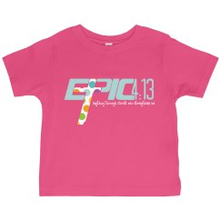 E.P.I.C. 4:13 - GIRL'S T-SHIRT WITH POLKA DOT LOGO