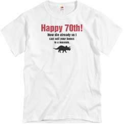 70th Dinosaur Birthday