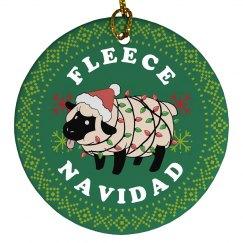Fleece Navidad Xmas Ornament