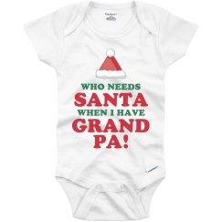 Grandpa Over Santa Onesie
