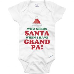 Grandpa Over Santa Onesie