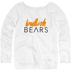 BULLISH BEARS SLOUCHY WIDENECK SWEATSHIRT