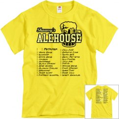 Shot Club Check-Off Tshirt (Yellow)