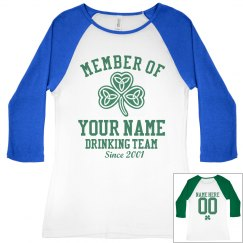 Drinking Team St Pats Member