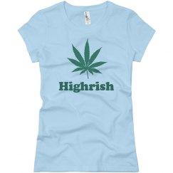 Highrish Women's Weed Tee