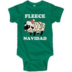 Fleece Navidad Onesie