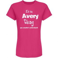 It's an avery thing