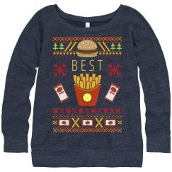 Best Friends French Fries Ugly Sweater