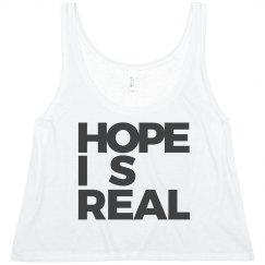 HOPE IS REAL CROPPED TANK