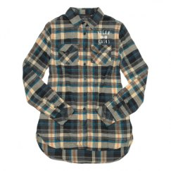 Ladies Long Sleeve Plaid Flannel Shirt