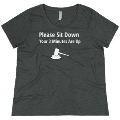 Ladies Loose 3 Minutes Are Up Shirt