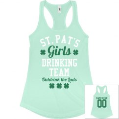 St Pattys Girls Drinking Team