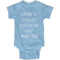 Funny Baby Gift From Aunt Name