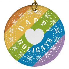 Rainbow Happy Holigays