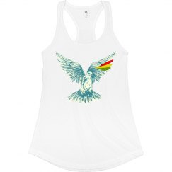 Wings Up Racerback Tahiti