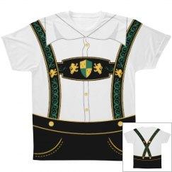 Full Lederhosen Print Shirt