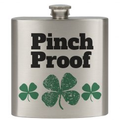 St Patrick's Pinch Proof Flask