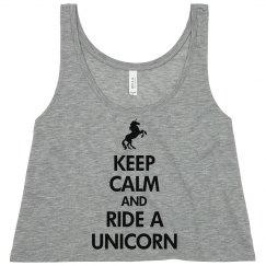 Keep Calm Unicorn Tank