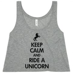 Keep Calm Unicorn Tank
