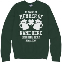 St Patty Drinking Team Member