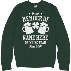 St Patty Drinking Team Member