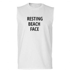 Resting Beach Face Summer Tank