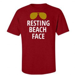 Resting Beach Face Summer Tshirt