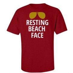 Resting Beach Face Summer Tshirt