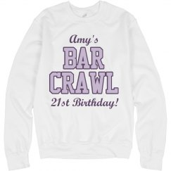Amy's 21st Bar Crawl