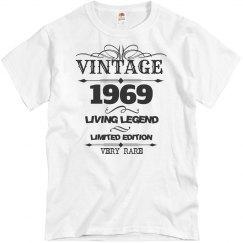 Vintage 1969 living legend very rare birthday shirt