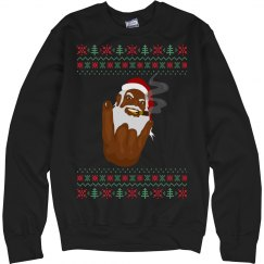 Smokin' Santa Ugly Christmas