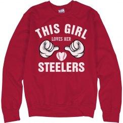 Girl loves her steelers