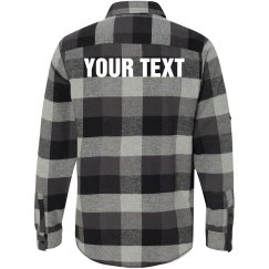 Your Text on Plaid