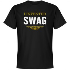 I Invented Swag Black Tee