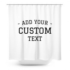 Customizable Shower Curtain
