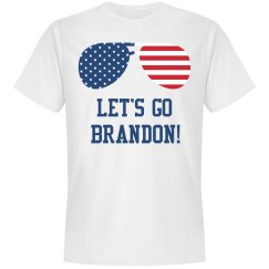 Let's Go Brandon Patriotic Sunglasses T-Shirt