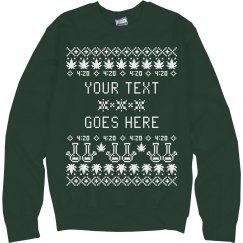 Custom Weed Ugly Sweater