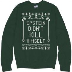 Suspicious Epstein Ugly Xmas Sweater