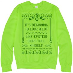To Look A Lot Like Epstein Neon Green Sweater