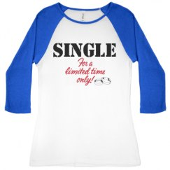 Ladies Slim Fit 3/4 Sleeve Raglan Tee