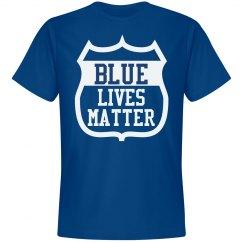 Blue Lives Matter Police T-Shirt