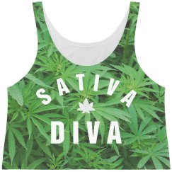 Cute All Over Print Sativa Diva