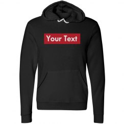 Custom White Text Red Rectangle Hoodie
