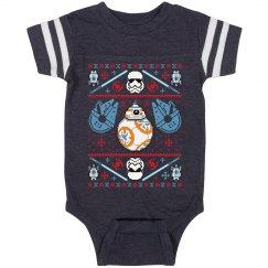 Xmas Space Baby Onesie