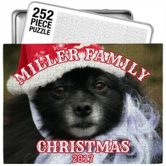 Funny Family Photo Christmas Puzzle