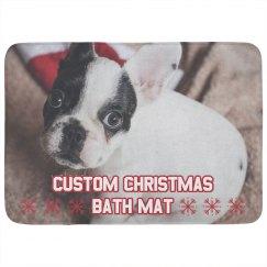 Custom Christmas Bathroom Decor