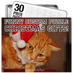 Funny Custom Puzzle Xmas Gift