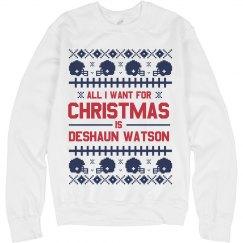 Deshaun Watson Ugly Christmas Sweater