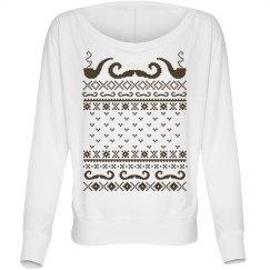 Mustache Pipe Sweater