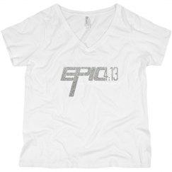 E.P.I.C. 4:13 - Women's Curvy Shirt with Silver Logo